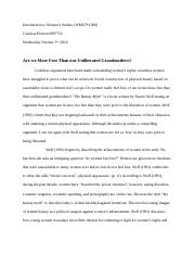 WMST- Reflection Paper