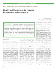 Health and Environmental Hazards of Electronic Waste in India.pdf