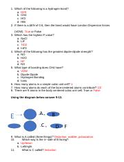 Chemistry Chapter 13 Review Key