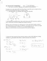 osv mechanics worksheet solutions