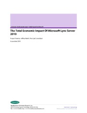 Lync-Total-Econ-Impact-Forrester