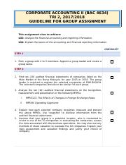 176298_GUIDELINE FOR GROUP ASSIGNMENT BAC4634 Tri 2 2017_18.doc