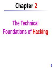 Chap 2 The Technical Foundations of Hacking