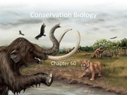 Chapter 60 Conservation Biology