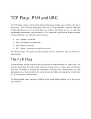 TCP Flags and ports