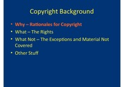 Copyright Law Notes
