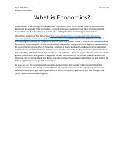 What is Economics - Darrell Pinontoan.docx