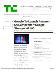 Google To Launch Amazon S3 Competitor 'Google Storage' At I:O | TechCrunch.pdf