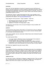 Business studies essay competition