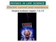 16_B Electric current resistance