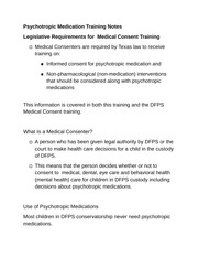 Psychotropic Medication Training Notes