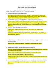 Study Guide for ITSCM 310 Exam 2 (1) (Autosaved).docx