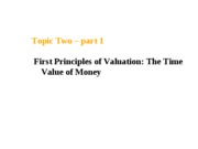 Topic 2 Time Value of Money