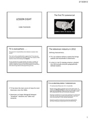 PRINTABLE LESSON 8 - Using television