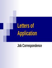 Week 2 Letters of Application cv.ppt