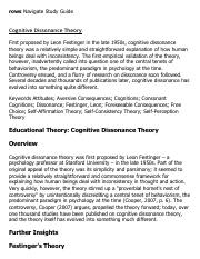 cognitive dissonance paper Cognitive dissonance this essay cognitive dissonance and other 64,000+ term papers, college essay examples and free essays are available now on reviewessayscom.