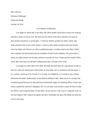 Sophomore Year - Death and Dying - Religion Response Paper 2