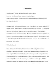 5 Pages Industry Analysis Memo   Doe  Industry Analysis Example
