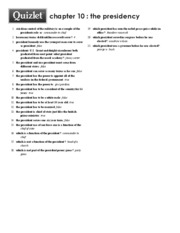 Print › chapter 10 _ the presidency _ Quizlet