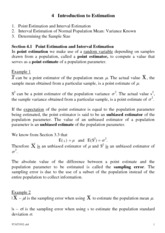 Chapter 4 Introduction to Estimation