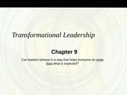 Chapter 9 Transformational_S
