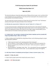 IS3440 Security Linux Lab Manual FAQ Errata Sheet