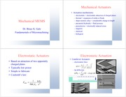 Lecture 22 Mechanical Microsystems
