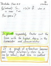 MATH 001 Fall 2013 Polynomial Graphing Lecture Notes