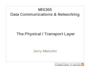 MIS365 2 - Physical Layer