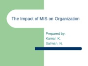impact of mis on organization