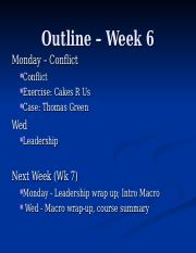 Week 6  Class 11 Conflict 2016.ppt