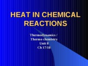 Unit 8 Thermochemistry