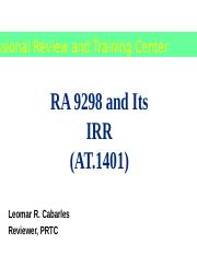 AT.1401_RA 9298 and Its IRR2