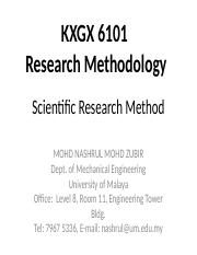 Research Methodology - Topic 2 Scientific Method_nashrul