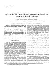 A New RFID Anti-collision Algorithm Based on the Q-Ary Search Scheme