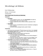 Ubiquity of microorganisms lab report