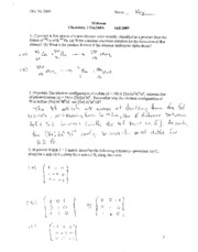 Midterm answer key chem173A 2009