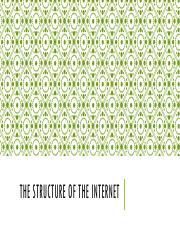 The Structure of the Internet