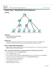 5.3.1.3 Packet Tracer - Identify MAC and IP Addresses.docx