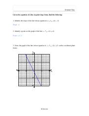 Graphing Linear Functions Point-slope Forms of Lines Practice and Answers.pdf