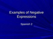 Examples of Negative Expressions