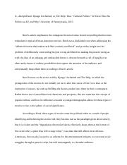 Annotated Bibliography- Adolph Reed Jr..docx