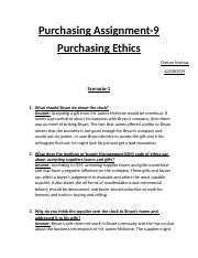 Purchasing Ethics Chetan