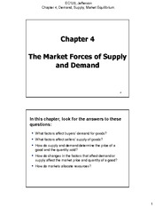 Chapter 04 The Market Forces of Supply and Demand