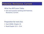 Class 071 - Potential, Resistance, Current
