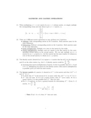 Math 121 discussion - Matrices and Matrix Operations