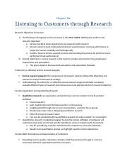 chapter 6 listening to customers through research.docx
