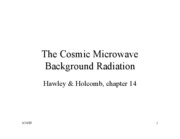 Lecture12 Cosmic Microwave Background Radiation