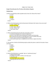 Religion Test 5 Study Guide 8-12