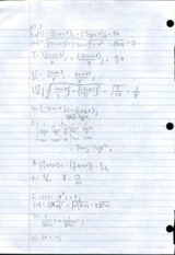 Multivariable Calculus 10.7 Homework Solutions